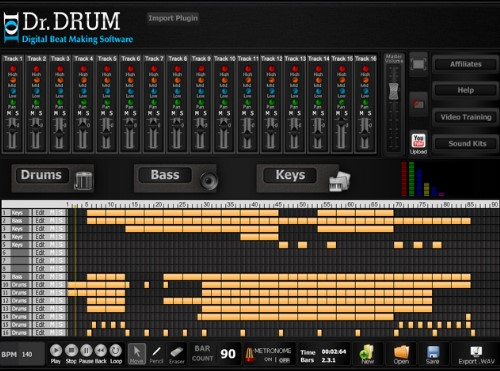 dr drum beat making software