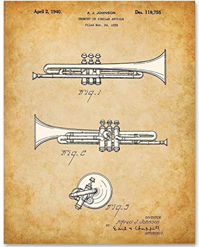 Trumpet Patent Poster